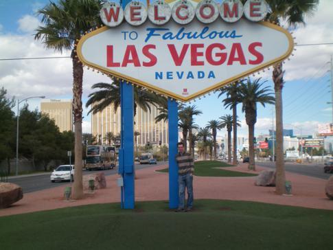Eines der Wahrzeichen der Stadt: Welcome to Fabulous Las Vegas