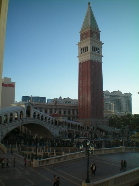 Der Markusturm aus Venedig, nachgebaut in Las Vegas