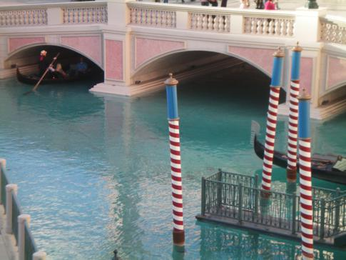 Der Canale Grande, ein Teil Venedig in Las Vegas