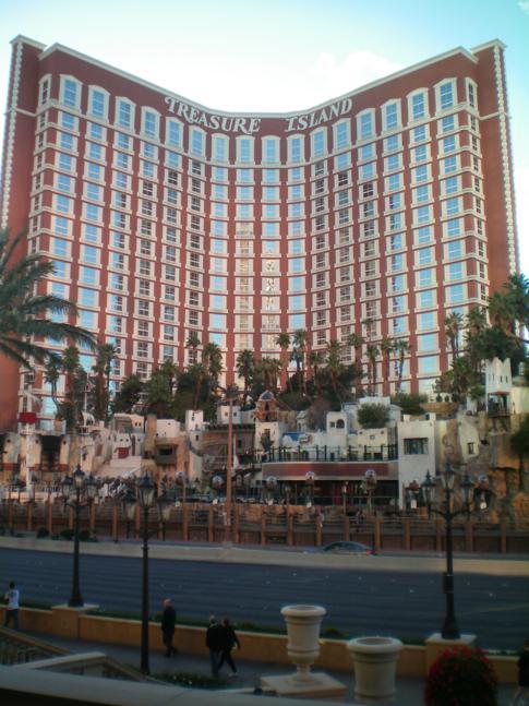 Treasure Island, Schauplatz von einer der berühmten Shows auf dem Strip