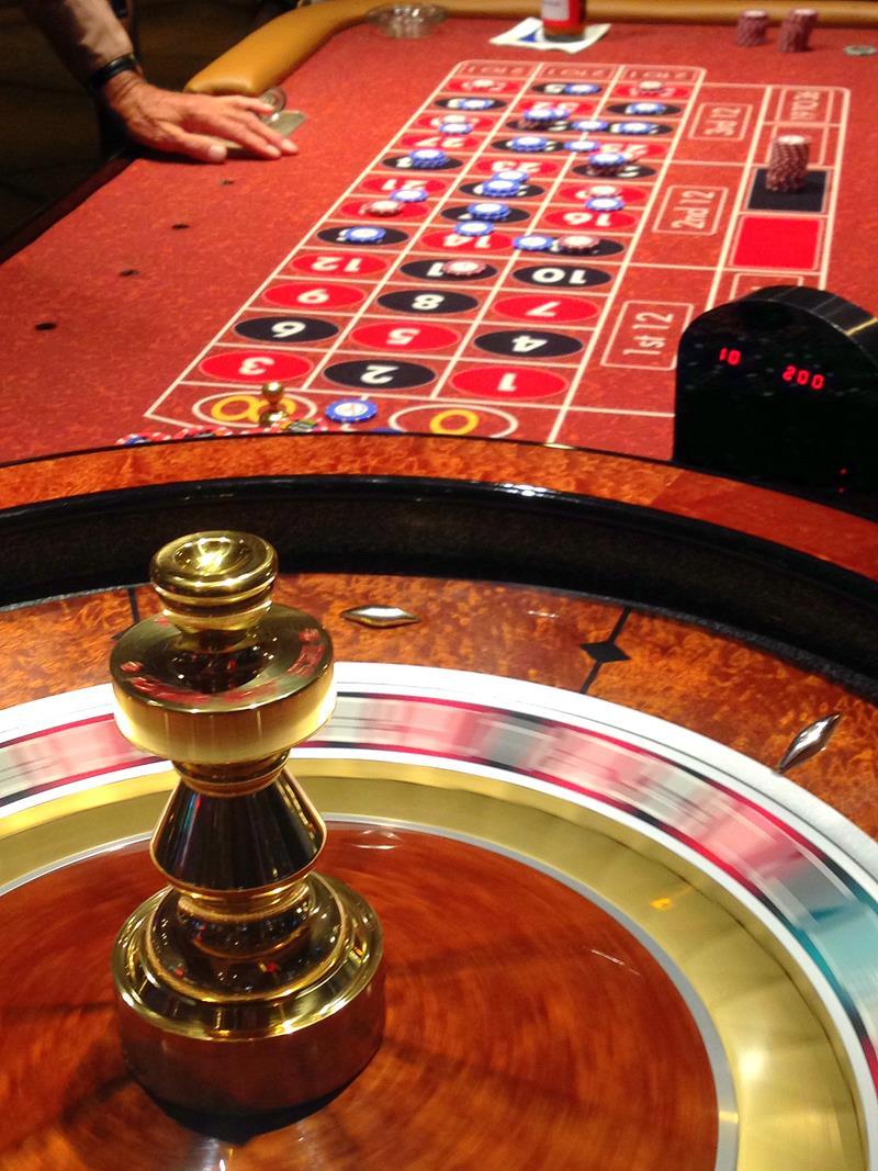 Ein typischer Roulette-Tisch in einem Casino in Las Vegas