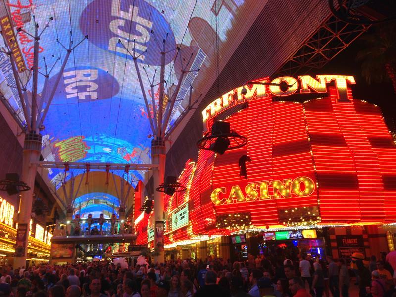 Die Fremont Street Experience in Las Vegas Downtown im Jahr 2016