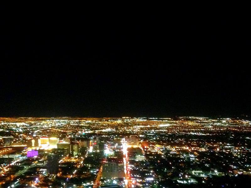 Blick vom Stratosphere Tower auf Las Vegas