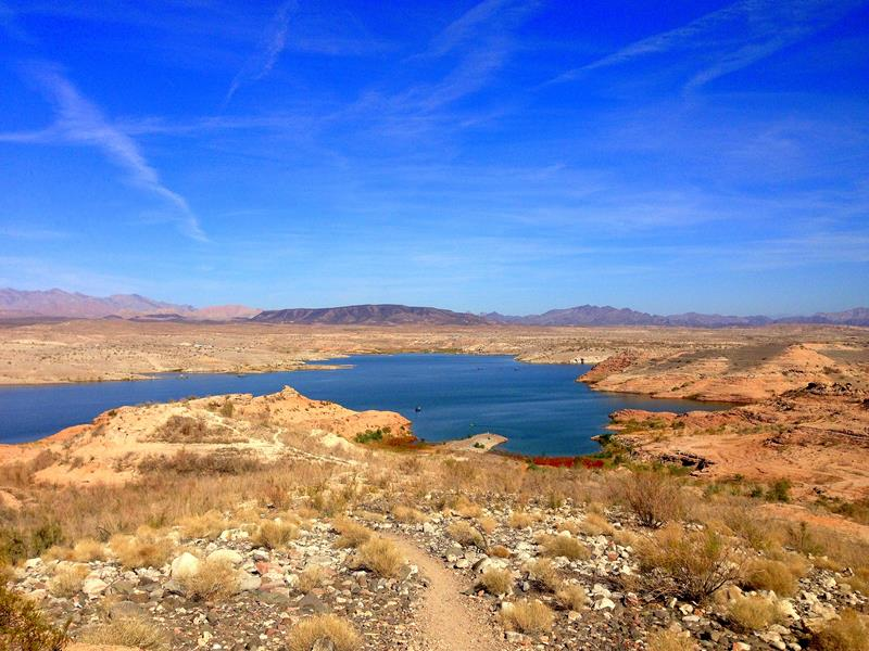 Die Lake Mead Recreational Area zwischen Las Vegas und dem Hoover Dam