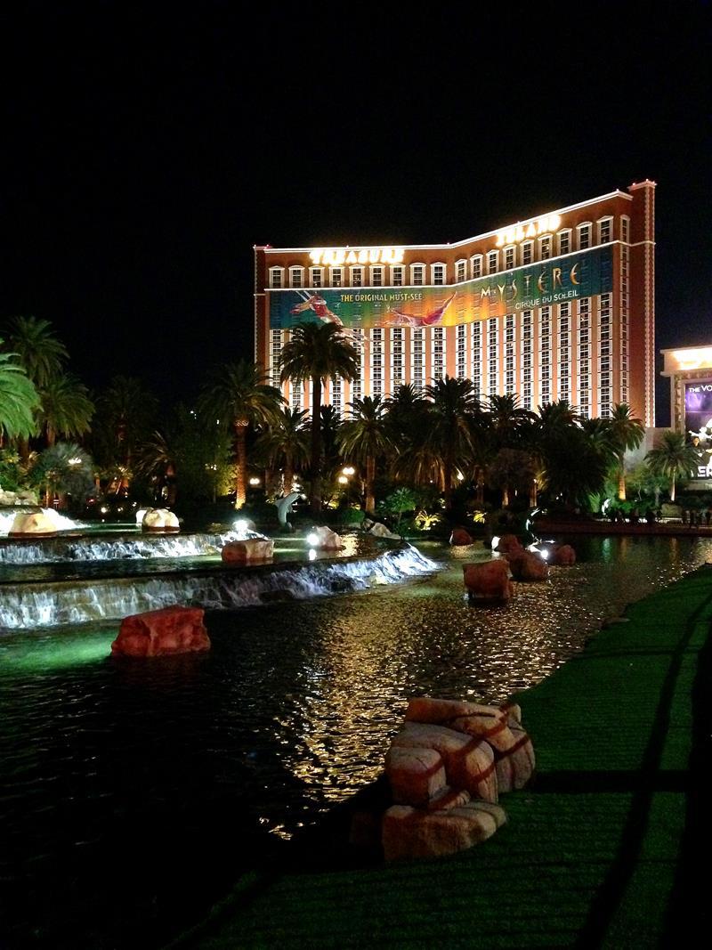Das Zentrum des Strips, dem Las Vegas Boulevard