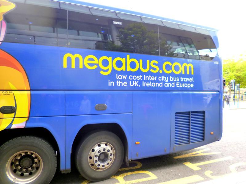 Mit dem Megabus von Leeds nach Newcastle