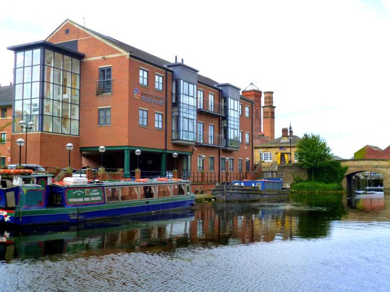 Der kleine und gemütliche Hafen von Leeds
