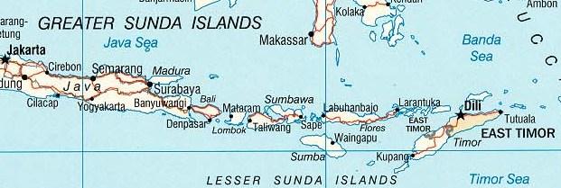 Landkarte der Kleinen Sunda-Inseln