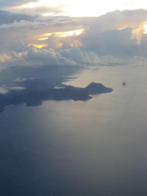 Blick auf die Südküste von Martinique