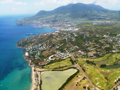Tolle Panoramarunde mit Liat über St. Kitts, hier im Bild die Hauptstadt Basseterre