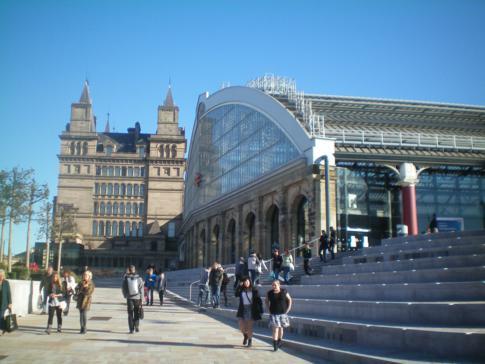 Die Lime Street Station, sozusagen der Hauptbahnhof von Liverpool