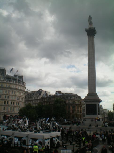 Die Nelsonsäule am Trafalgar Square in London