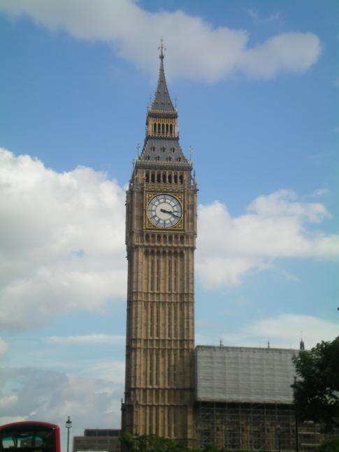 Der Big Ben in London - der richtige Name ist eigentlich Clock Tower