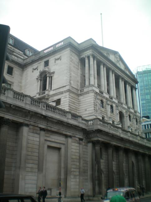 Bild der Bank of England in London