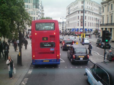 Rush Hour in London - das macht die Busfahrt noch viel spannender