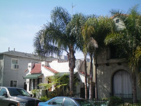 Wohnviertel in Long Beach, nahe dem Strand