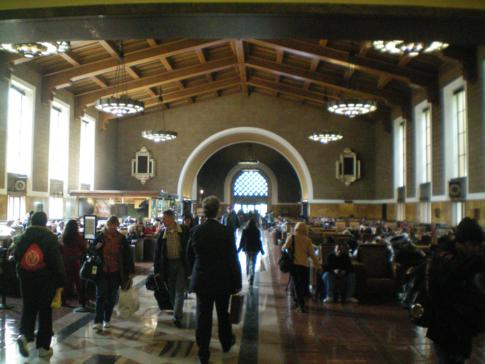 Die Union Station (Hauptbahnhof) in Los Angeles