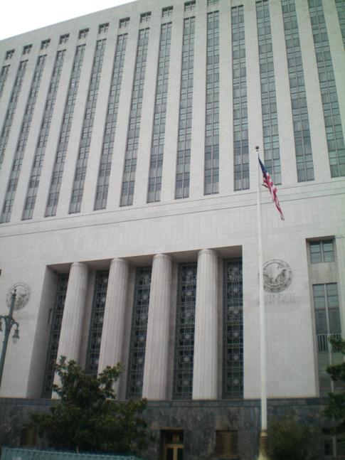 Der Court of Justice in Los Angeles Downtown