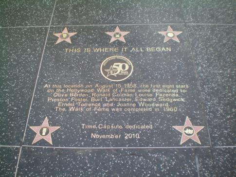 Der Walk of Fame - Stars und Sternchen in Hollywood