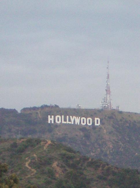 Der Hollywood-Schriftzug, gut zu sehen vom Highland Center aus