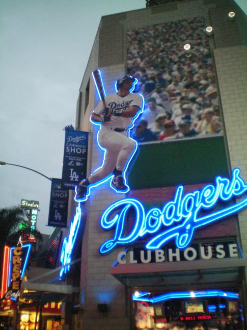 Fanshop der Los Angeles Dodgers in Universal City