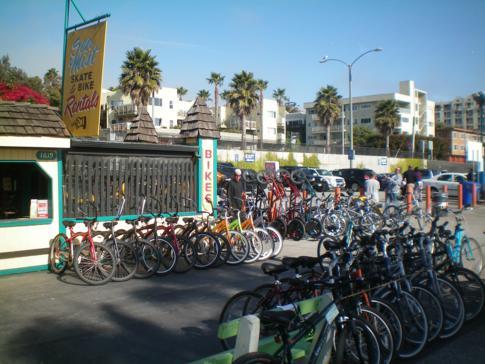 Fahrradverleih in Santa Monica