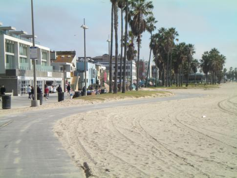 Fahrradtour entlang des Santa Monica Beach