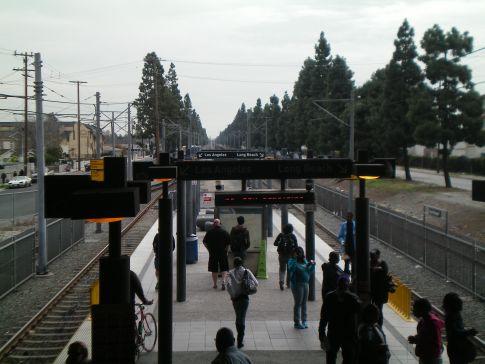 Die Metrostation in Wilmington, Umsteigepunkt zwischen grüner und blauer Linie
