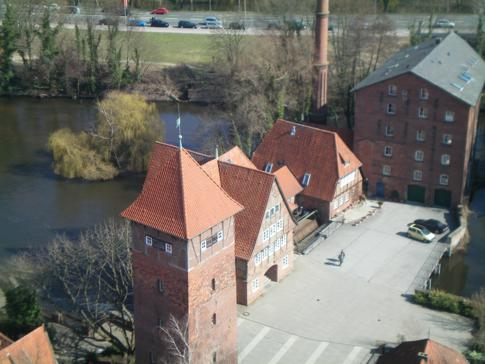 Die Wassermühle am Wasserturm von Lüneburg