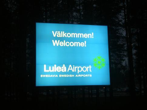 Der Flughafen von Lulea