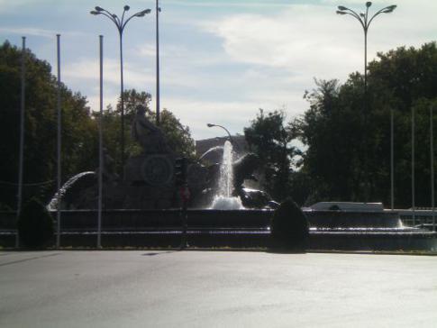 Kreisverkehr am Plaza de la Cibeles