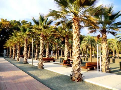 Gemütlicher Park direkt am Hafen von Malaga