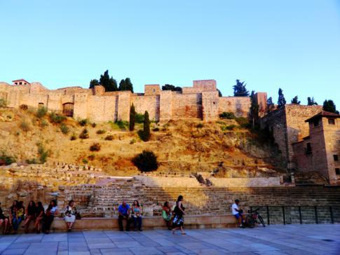 Die Festung von Malaga, die Alcazaba