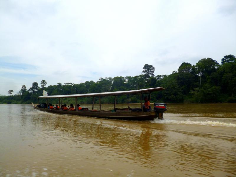 Spannende Botsfahrt zum Mutiara Taman Negara Resort