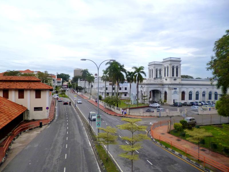 Blick auf Georgetown, der Hauptstadt von Penang in Malaysia