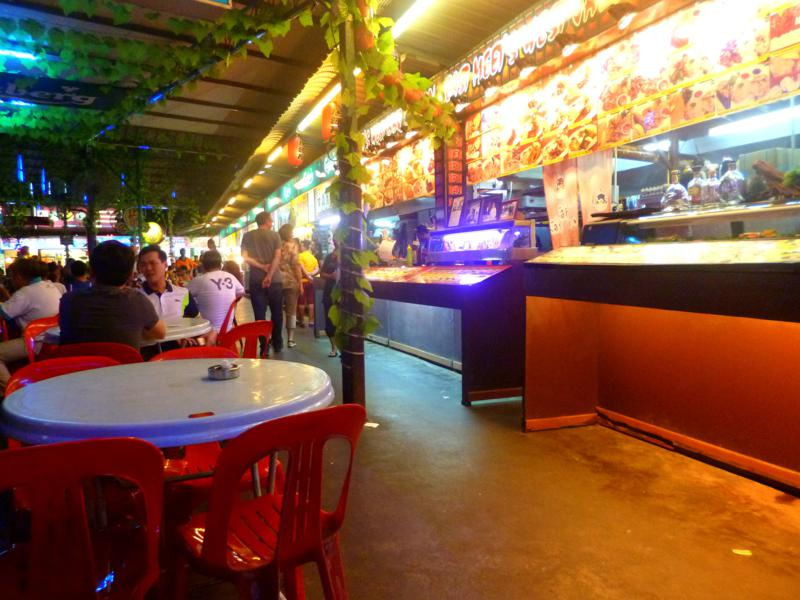 Ein klassisches Hawker Center in Georgetown