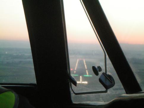 Anflug mit Manx2 auf den Flughafen von Blackpool