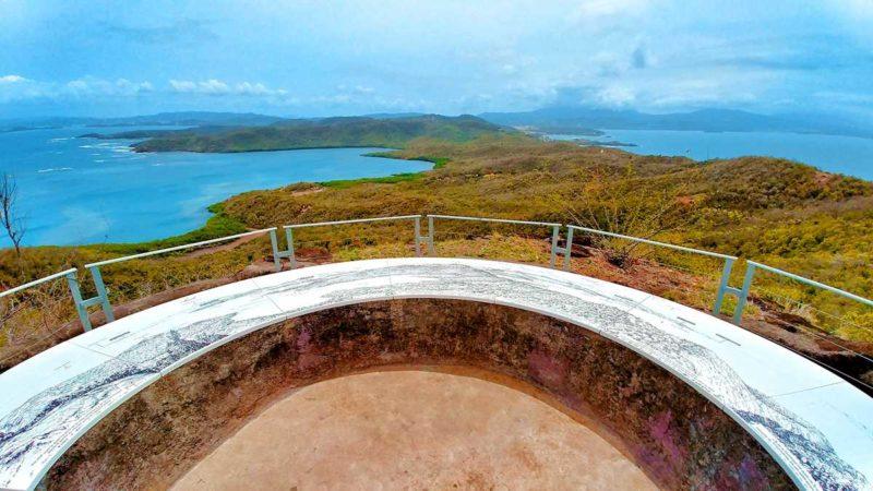 Wunderschöner Ausblick über die Caravelle-Halbinsel im Osten von Martinique