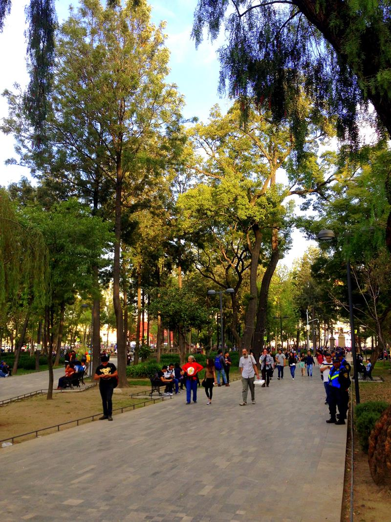 Der Park Alameda Central in Mexico City