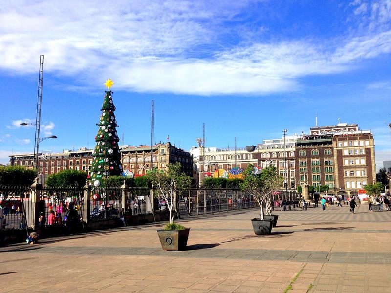 Zocalo, der größte Platz von Mexico City