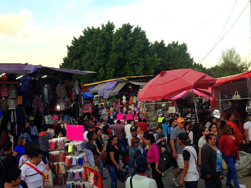 Ein Markt in Mexico City nahe des historischen Zentrums