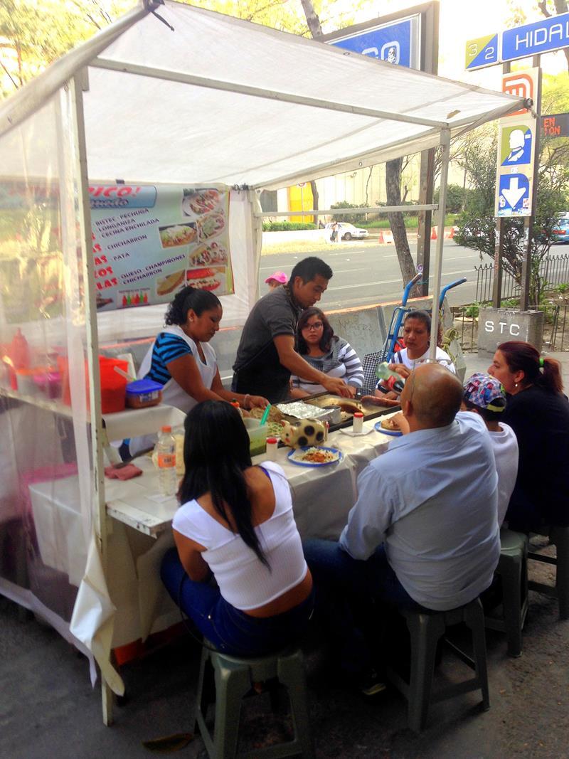 Einer der typischen Taco-Stände in Mexiko