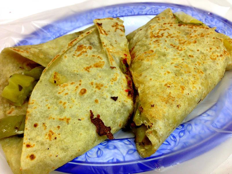 Ein typischer Burrito in Mexiko
