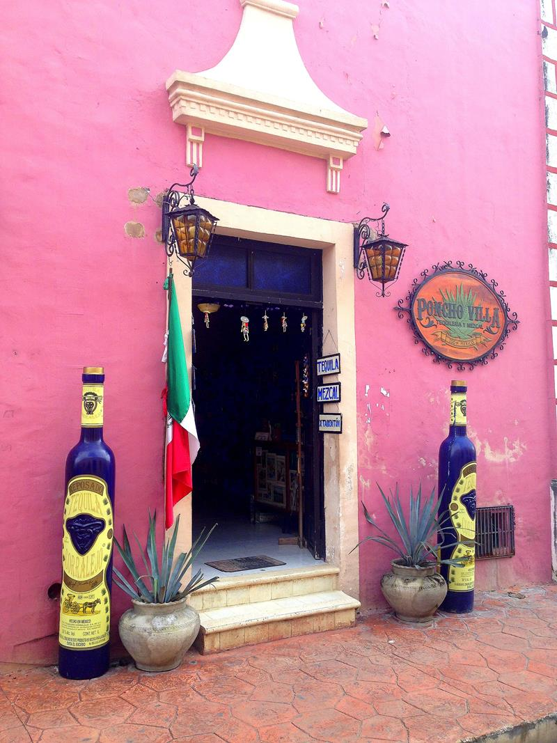 Das sehr hübsche Städtchen Valladolid in Zentrum von Yucatán
