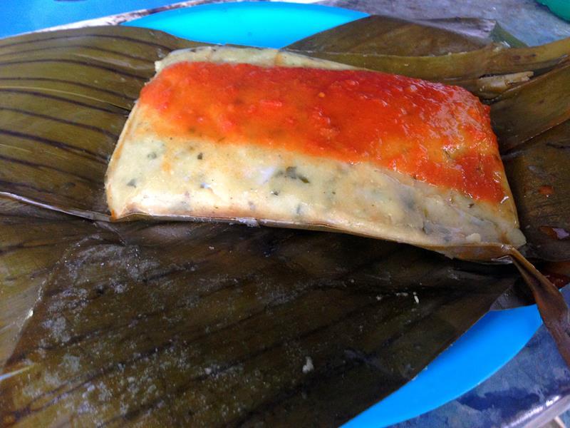Tamales, ein typisches Essen in Mexiko und Yucatán