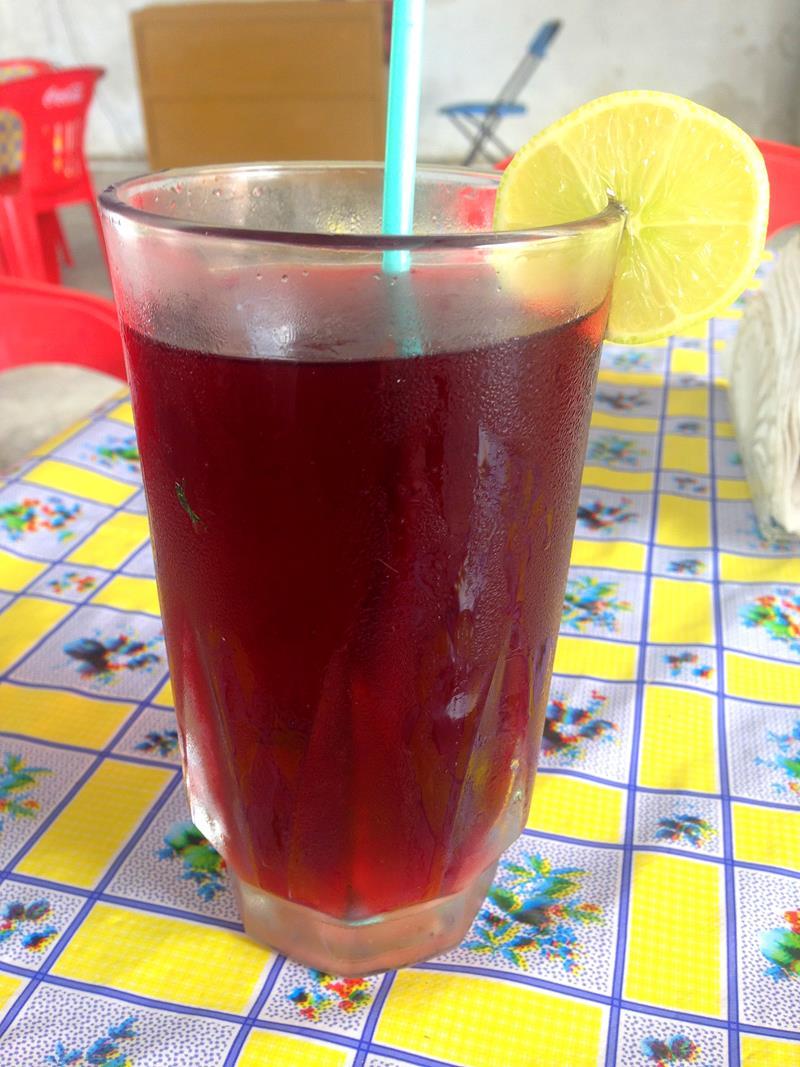 Jamaica, ein sehr leckerer Saft aus Blüten, den es häufig in Yucatan gibt