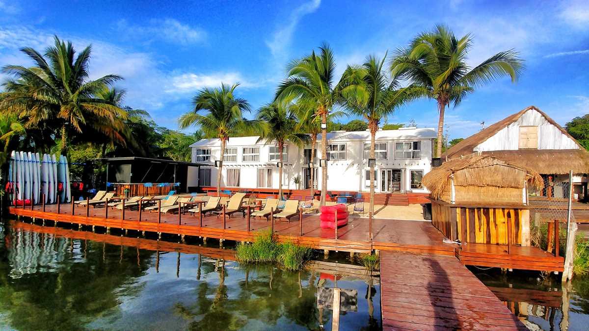 Das Yak Lake House, das wohl beste Hostel in Bacalar