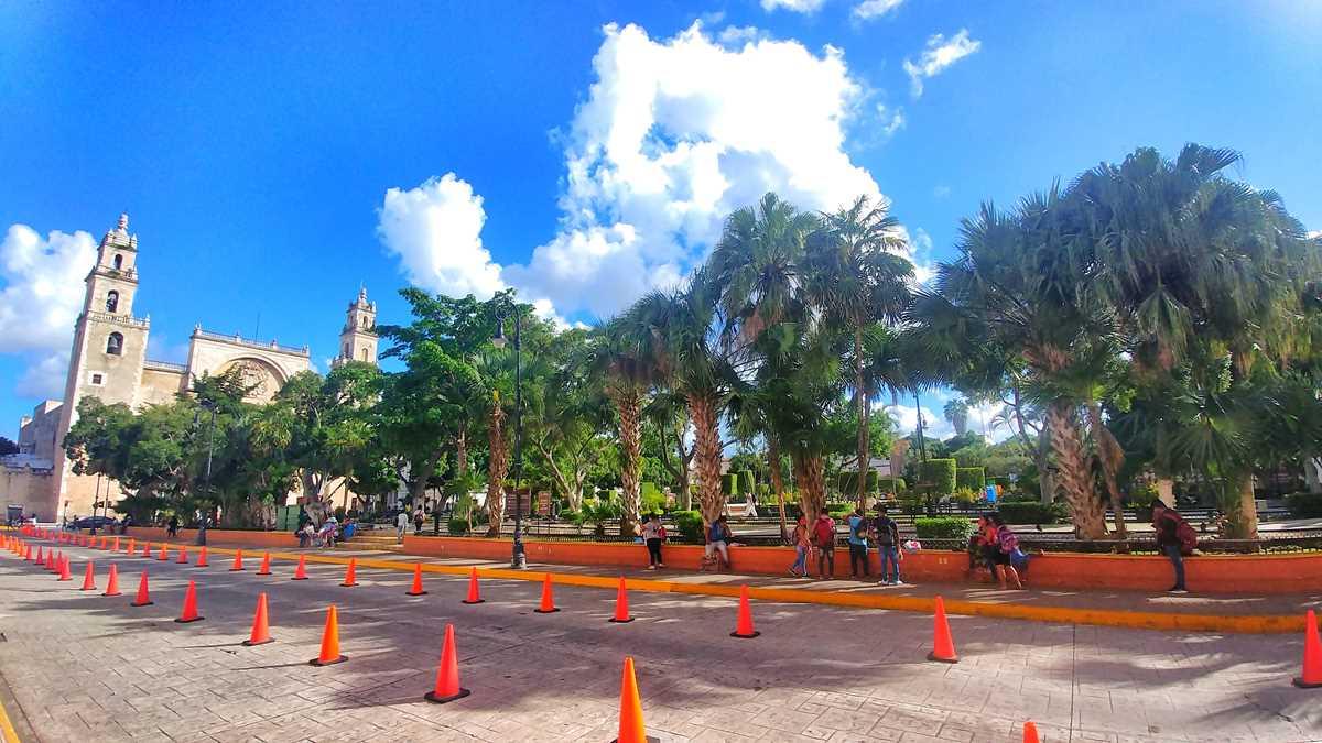 Der zentral Platz in Mérida, der Plaza Grande