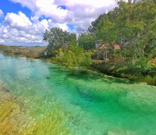 Los Rapidos, eine besonders klare Stelle an der Laguna Bacalar