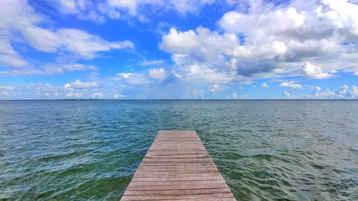 Die Laguna Bacalar in Yucatan, Mexiko
